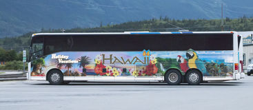 Hawaii tour Bus Stock Images