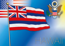 Hawaii us state flag Royalty Free Stock Image