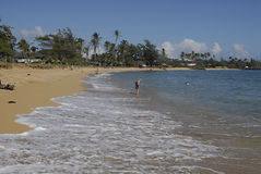 HAWAII_USA_Kapa'a Beqch Park Royalty Free Stock Photography