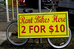 HAWAII_USA_rent bikes sing Royalty Free Stock Images