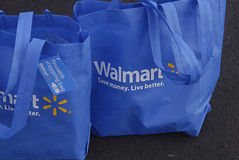 HAWAII_USA_Walmart shopping bags Royalty Free Stock Images