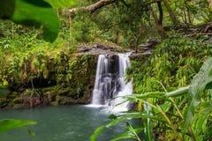 hawaii vattenfall Royaltyfria Foton