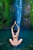 hawaii vattenfallkvinna Royaltyfri Bild