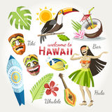 Hawaii vector collection Royalty Free Stock Image