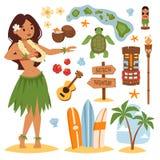Hawaii vector set. Stock Image