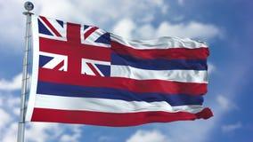 Hawaii vinkande flagga Fotografering för Bildbyråer