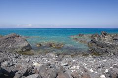 Hawaii Volcanic Coast of Kona Royalty Free Stock Image