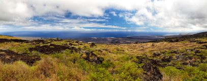 Hawaii Volcanoes National Park. Panoramic view on the south coast of Big Island from the Chain of Craters Road in the Hawaii Volcanoes National Park on Big Stock Photos