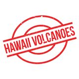 Hawaii Volcanoes rubber stamp Royalty Free Stock Photography
