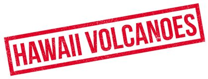 Hawaii Volcanoes rubber stamp Royalty Free Stock Images