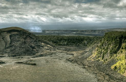 Hawaii Vulcano National Park. HDR shot of the Volcano in Hawaii Royalty Free Stock Photos