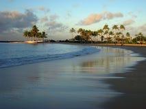 Hawaii Waikiki Beach Sunset Royalty Free Stock Photo