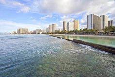 Hawaii Waikiki Skyline Stock Photos