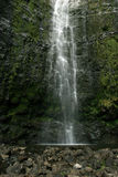 Hawaii Waterfall. A very tall and amzing waterfall in hawaii Stock Images