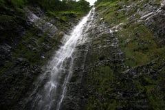 Hawaii Waterfall. A very tall and amzing waterfall in hawaii Stock Photos