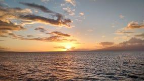 Hawaii Waters. Scenic View of Waters off Hawaiian Island Stock Photo