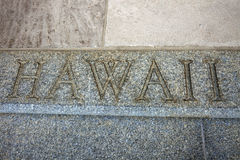 Hawaii word on the stairs Royalty Free Stock Image