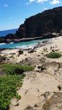 Hawaii& x27; spiagge e tramonto di s Fotografia Stock