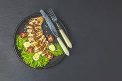 Hawaiiaans, Aziatisch voedsel, kippensalade stock afbeelding