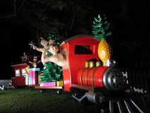 Hawaiiaans Cijfersaandrijving, Shaka, en de Treinhoogtepunt van Ritkerstmis van Stock Foto's