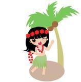 Hawaiiaans Meisje Hula stock illustratie