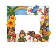 Hawaiiaans stijlkader stock afbeelding