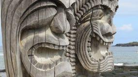 Hawaiiaans Tiki Statues Royalty-vrije Stock Afbeeldingen