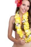 Hawaiiaans Tropisch Meisje stock afbeeldingen