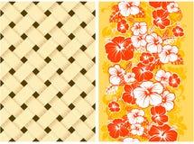 Hawaiiaanse Bloemen Naadloze Achtergrond Stock Fotografie