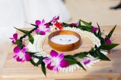 Hawaiiaanse huwelijksceremonie royalty-vrije stock fotografie