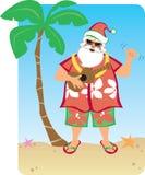 Hawaiiaanse Kerstmis van de kerstman Stock Fotografie
