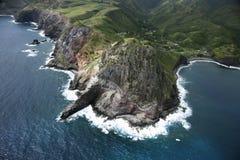 Hawaiiaanse kustlijn. stock afbeelding