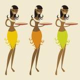 Hawaiiaanse serveerster (vector) vector illustratie