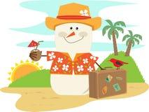 Hawaiiaanse Sneeuwman vector illustratie