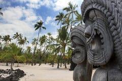 Hawaiiaanse Tikis Stock Fotografie