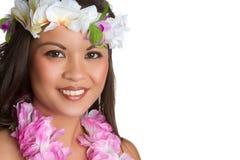 Hawaiiaanse Tropische Vrouw royalty-vrije stock foto's