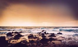 Hawaiiaanse Zonsondergang stock foto