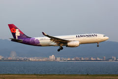 Hawaiian Airlines-Luchtbusa330-200 vliegtuig Stock Foto