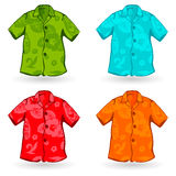 Hawaiian Aloha Shirts. Vector illustration Royalty Free Stock Photos