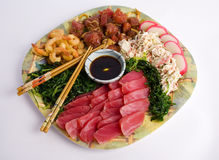 Hawaiian Appetizer Plate Royalty Free Stock Images