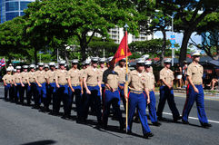 Hawaiian army guards, aloha festivals 2010 Royalty Free Stock Images