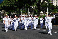 Hawaiian army guards, aloha festivals 2010 Royalty Free Stock Photography