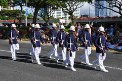 Hawaiian army guards unit marching Stock Photo