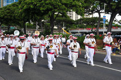 Hawaiian band  in aloha festivals 2010 Stock Photo