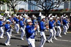 Hawaiian band  in aloha festivals 2010 Royalty Free Stock Images