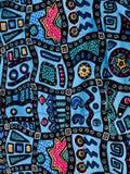 Hawaiian batik fabric background Stock Image