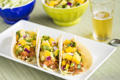 Hawaiian BBQ Chicken Tacos Stock Photos