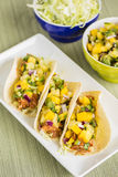 Hawaiian BBQ Chicken Tacos stock images