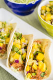 Hawaiian BBQ Chicken Tacos Royalty Free Stock Image