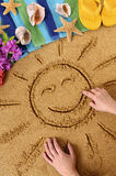 Hawaii beach child smiling sun Stock Images